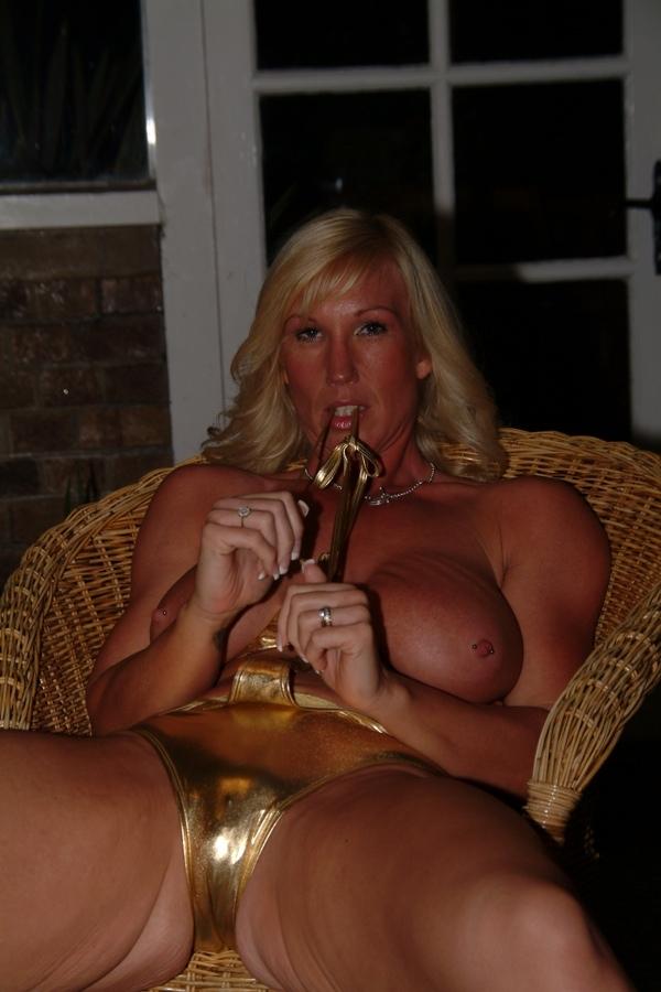 You like my new gold swimwear?